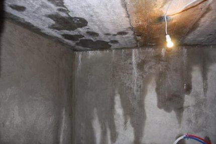 Condensation au sous-sol