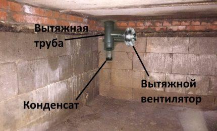 Installation du ventilateur