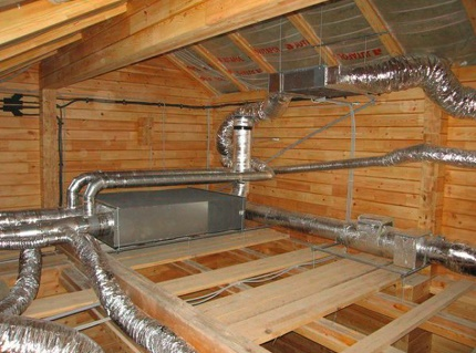 Système de ventilation avec récupérateur dans le grenier