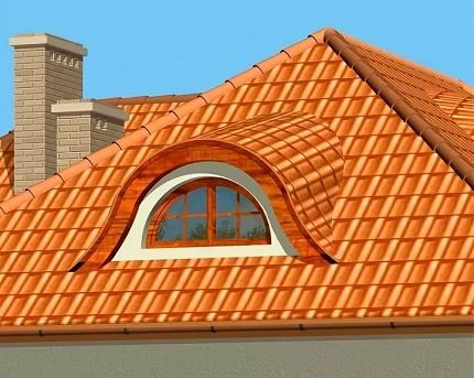 Lucarne de toit de hanche