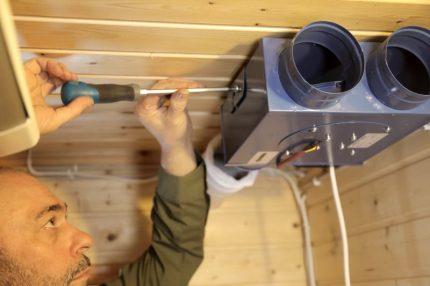Installation de ventilation dans le pays
