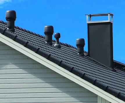 Emplacement de la ventilation par rapport à la crête