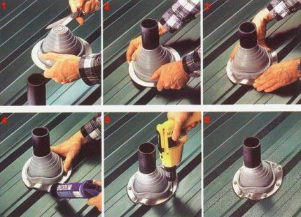 Étapes pour installer un flash master sur la ventilation