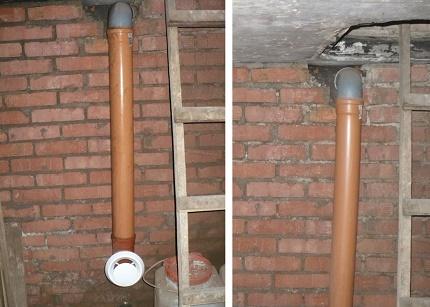 Ventilation des tuyaux en plastique