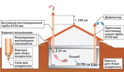 Système de ventilation pour stockage de légumes