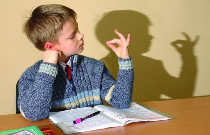 Attention deficit in a child