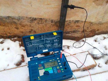 Earth resistance spreading resistance measurement