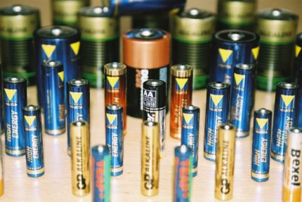 Batteries for the remote control