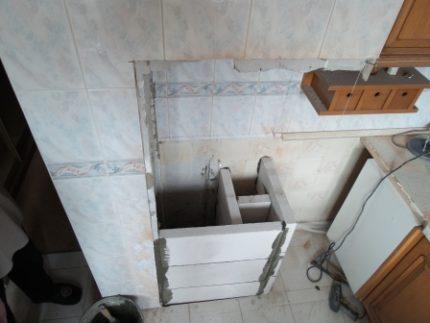 Izjaukta ventilācijas kaste
