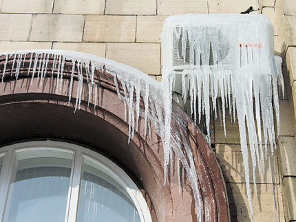Air condition icicles