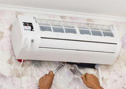Removing the air conditioner indoor unit