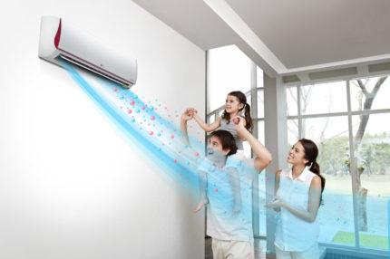 Processed air conditioner flow