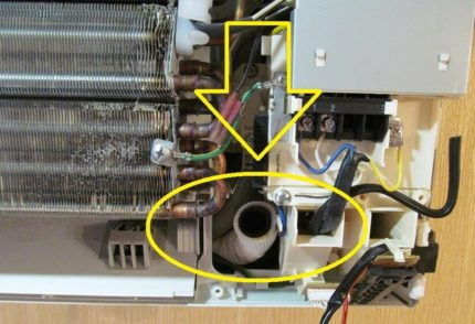 Air conditioning drainage system