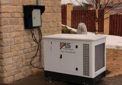 Power supply of a private house