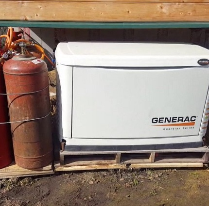The gas generator is installed on the street