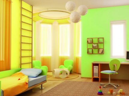 Akrila krāsa uz sienām