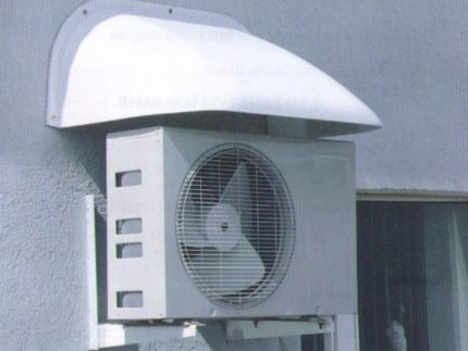Air conditioning under the visor