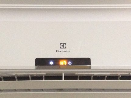 Incomprehensible error code of the conditioner Electrolux