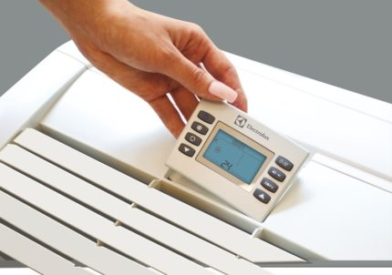 The main wired remote control of the air conditioner Electrolux