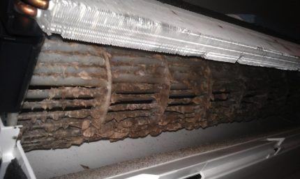 Dirty air conditioner filters