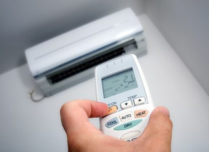 The process of setting up the remote control for air conditioning