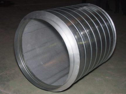 Round silencer for ventilation