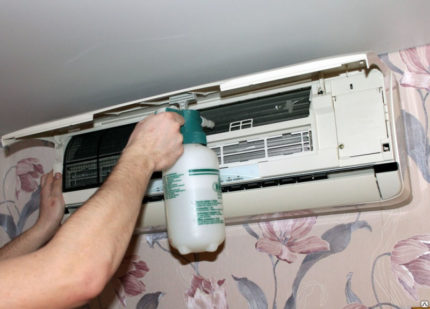 Washing the air conditioner