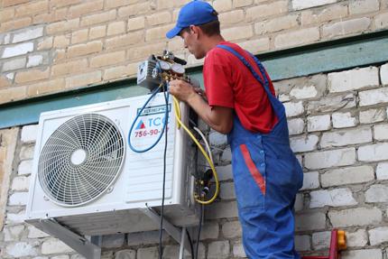 Installation of domestic air conditioner