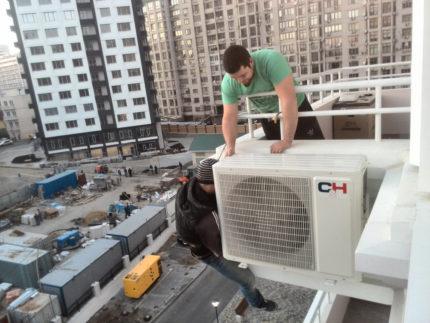 Mounting a split system