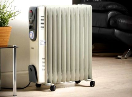 Heater in an air-conditioned room