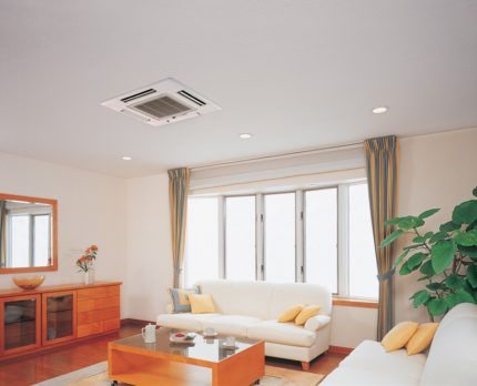 Ceiling air conditioning in the apartment