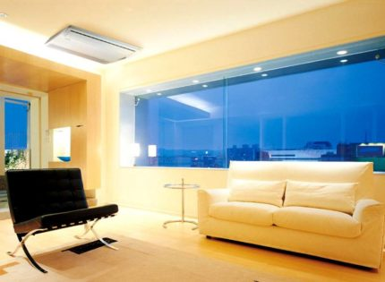 Floor and ceiling air conditioning