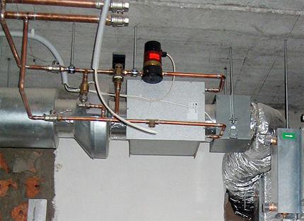 Nodrošiniet ventilāciju ar ūdens sildīšanu
