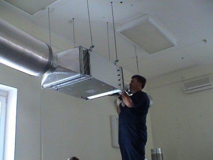Installation d'un système de ventilation