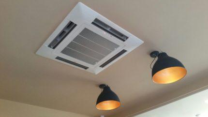Square ceiling air conditioner