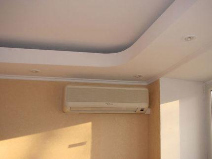 Rectangular suspended ceiling air conditioner