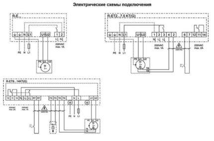 Dažādu kontrolieru savienojuma shēmas
