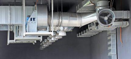 Gaisa ieplūdes rūpnieciskās ražošanas dizaina piemērs