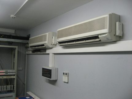 Air conditioning in the server room