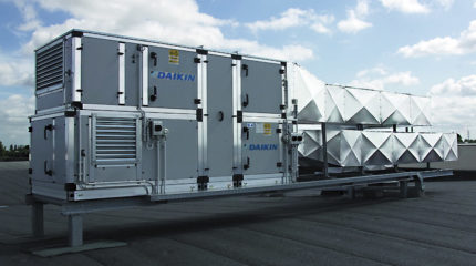 Roof central air conditioning