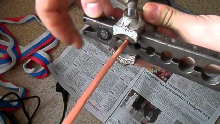 Copper tube flaring