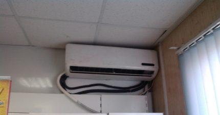 Creepy air conditioning installation
