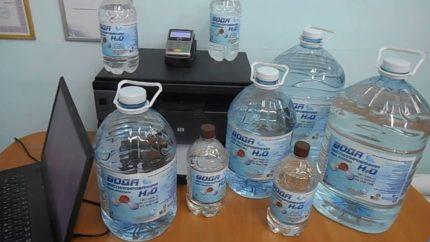 Distilled bottled water