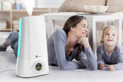 Dimensional humidifier on the floor