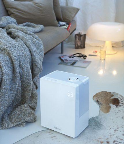 Humidifier on the bedroom floor