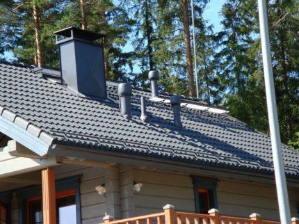 Ventilācijas kanālu noslēgšana uz jumtu