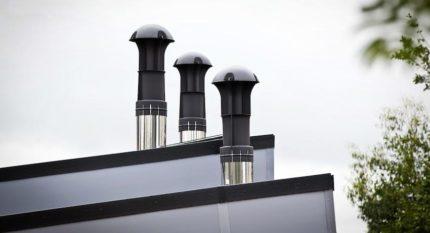 Skaists ventilācijas izvads