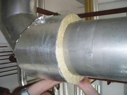 Isolation des tuyaux de ventilation