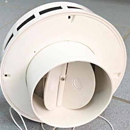 Aksiālais ventilators ar pretvārstu