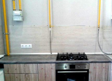 L'emplacement des tuyaux de gaz dans la cuisine